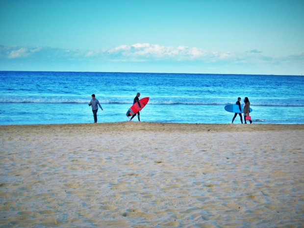 Manly Beach winter surfing
