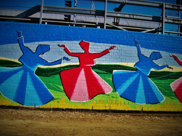 Whirling Dervish graffiti in Auburn.